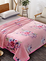 cheap -Coral fleece, Printed Flower Polyester Blankets / Flannel