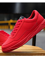 cheap -Men's Shoes Faux Leather Winter Comfort Sneakers Black / Gray / Red