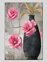 baratos -Pintura a Óleo Pintados à mão - Vida Imóvel / Floral / Botânico Modern Tela de pintura