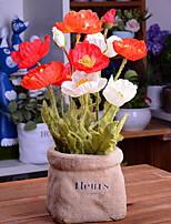 preiswerte -Künstliche Blumen 1 Ast Stilvoll Mohn Tisch-Blumen