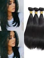 cheap -Peruvian Hair Straight Virgin Human Hair Natural Color Hair Weaves / Extension / Human Hair Extensions Human Hair Weaves Soft / Hot Sale