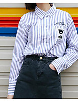 cheap -Women's Vintage Shirt - Solid Colored / Striped Black & Red, Pleated