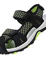 preiswerte -Jungen Schuhe Atmungsaktive Mesh PU Sommer Komfort Sandalen Schnalle für Draussen Dunkelblau Grau Schwarz / grün
