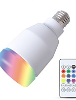 Недорогие -YouOKLight 1шт 5W 600lm E26 / E27 Умная LED лампа 27 Светодиодные бусины SMD Smart / Bluetooth / Аудио спикер Белый 110-130V / 220-240V