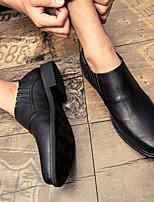 Недорогие -Муж. обувь Искусственное волокно Лето Удобная обувь Мокасины и Свитер Черный Серый Коричневый