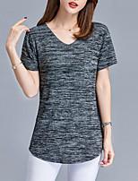 cheap -women's t-shirt - geometric v neck