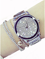 cheap -Women's Quartz Dress Watch Chinese Chronograph / Luminous Stainless Steel Band Luxury / Sparkle Silver / Gold