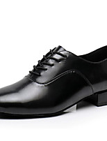 cheap -Men's Modern Shoes Cowhide Oxford Performance / Practice Chunky Heel Dance Shoes Black