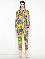 cheap -Mary Yan & Yu Women's Vintage / Street chic Shirt - Floral, Print Pant Shirt Collar