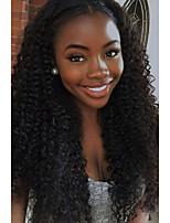 abordables -Cheveux Rémy Perruque Cheveux Brésiliens Très Frisé Bouclé 180% Densité Long Femme Perruque Naturelle Dentelle