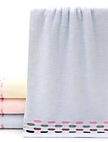 abordables -Style frais Serviette, Couleur Pleine Points Polka Qualité supérieure 100% Coton 100% coton 1pcs Essuie-mains