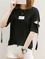 baratos -Mulheres Camiseta - Para Noite Sólido