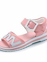 Недорогие -Девочки Обувь Полиуретан Лето Удобная обувь Сандалии для Белый / Розовый