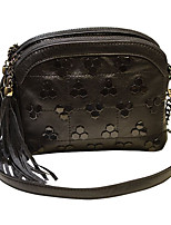 cheap -Women's Bags PU(Polyurethane) Shoulder Bag Zipper / Tassel Black