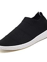 Недорогие -Муж. обувь Ткань Осень Удобная обувь Мокасины и Свитер для на открытом воздухе Черный Серый Красный