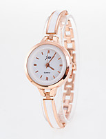 baratos -Mulheres Relógio de Pulso / Bracele Relógio Chinês Relógio Casual Aço Inoxidável Banda Fashion Prata / Dourada
