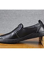 Недорогие -Муж. обувь Кожа Весна Удобная обувь Мокасины и Свитер для Офис и карьера Черный