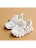 Недорогие -Девочки Обувь Искусственное волокно Осень Обувь для малышей Кеды для Белый / Черный / Розовый