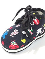cheap -Girls' Shoes Cotton Winter Comfort Sneakers for Black / Red