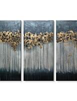 Недорогие -Hang-роспись маслом Ручная роспись - Абстракция Современный Modern холст