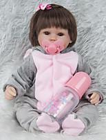 baratos -Bonecas Reborn Bebês Meninas 18polegada Silicone Unisexo de Criança Dom