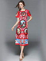 cheap -SHE IN SUN Women's Basic Street chic Swing Dress - Floral Lace