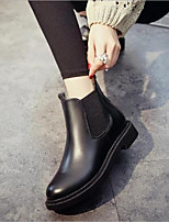 cheap -Women's Shoes PU Spring Fall Comfort Boots Chunky Heel for Black