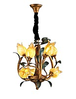 cheap -QIHengZhaoMing 9-Light Candle-style Chandelier Ambient Light 110-120V / 220-240V, Warm White, Bulb Included / G4 / 10-15㎡