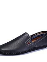 Недорогие -Муж. обувь Кожа Лето Удобная обувь / Мокасины Мокасины и Свитер Бежевый / Темно-синий / Коричневый