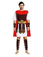 cheap -Soldier / Warrior Outfits Men's Halloween / Carnival / Day of the Dead Festival / Holiday Halloween Costumes Brown Solid Colored /