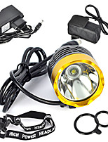 cheap -Front Bike Light LED LED Cycling Professional Anti-Shock Wearproof Easy Carrying Rechargeable Battery 3000lm Lumens Natural White Camping