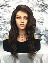 Недорогие -Remy Лента спереди Парик Бразильские волосы Волнистый 130% плотность 100% девственница Длинные Жен. Парики из натуральных волос на