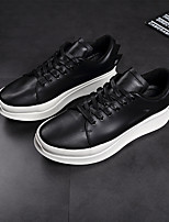 economico -Per uomo Scarpe Di pelle Autunno Comoda Sneakers Bianco / Nero