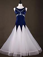 cheap -Ballroom Dance Dresses Women's Performance Spandex Crystals / Rhinestones / Split Joint / Ruching Sleeveless Dress