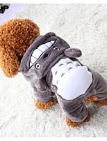 baratos -Cachorros / Gatos / Animais de Estimação Moletom Roupas para Cães Sólido / Xadrez / Coelho Cinzento Algodão Ocasiões Especiais Para