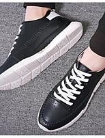 economico -Per uomo Scarpe PU (Poliuretano) Primavera / Autunno Comoda Sneakers Bianco / Nero