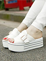 cheap -Women's Shoes Canvas Summer Comfort Slippers & Flip-Flops Creepers for White Gray