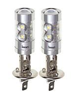 cheap -SENCART 2pcs H1 Car / Motorcycle Light Bulbs 50W SMD LED 3100lm 10 LED Fog Light For universal All years