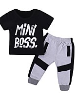 cheap -Toddler Boys' Solid Colored Short Sleeve Clothing Set