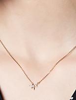 abordables -Femme Fleur S925 argent sterling / Dorage 18K Colliers chaînes - Métallique / simple Or 40cm Colliers Tendance Pour Quotidien / Festival