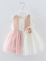 economico -Bambino (1-4 anni) Da ragazza Collage Senza maniche Vestito