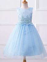 cheap -Kids Girls' Geometric Sleeveless / Short Sleeve Dress