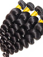 cheap -Malaysian Hair Wavy Natural Color Hair Weaves / Human Hair Extensions 4 Bundles Human Hair Weaves Best Quality / New Arrival / For Black Women Natural Black Human Hair Extensions Women's