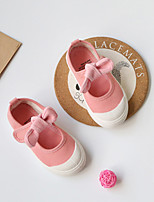 cheap -Girls' Shoes Canvas Spring & Summer Comfort / Light Soles Flats for Gray / Fuchsia / Pink