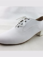 cheap -Men's Modern Shoes PU Oxford Performance Practice Chunky Heel White