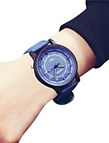 cheap -Women's Wrist Watch Chinese Chronograph / Large Dial Leather Band Fashion / Bangle Blue / Grey / Beige