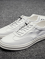 cheap -Men's Shoes Synthetic Microfiber PU Spring / Fall Comfort Sneakers White / Gray