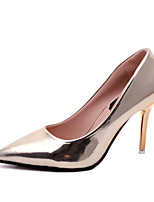 cheap -Women's Shoes Leatherette Spring & Summer Basic Pump Heels Stiletto Heel Pointed Toe Gold / Black / Silver / Wedding / Party & Evening