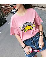 economico -T-shirt Per donna Animali Cotone / Cotone / Animali