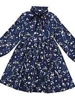 cheap -Kids Girls' Floral Long Sleeve Dress